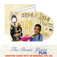 1990 to 2002  The Classic Years CD Greeting Card.